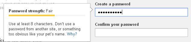 Google Password Meter